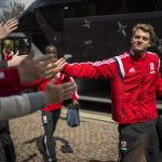 LONDON, ENGLAND - APRIL 25:  Patrick Bamford of Middlesbrough FC arrives ahead of the Sky Bet Championship match between Fulham and Middlesbrough at Craven Cottage on April 25, 2015 in London, England.  (Photo by Justin Setterfield/Getty Images)