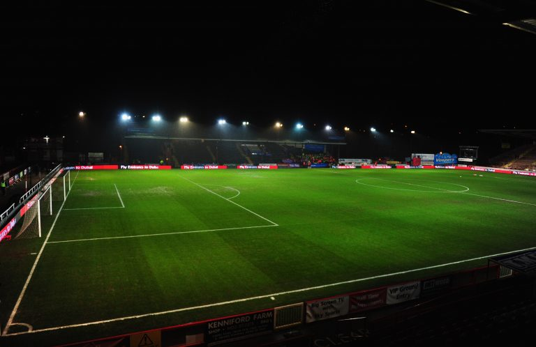EXETER, ENGLAND - JANUARY 08:  A general view inside the stadium prior to the Emirates FA Cup third round match between Exeter City and Liverpool at St James Park on January 8, 2016 in Exeter, England.  (Photo by Dan Mullan/Getty Images)