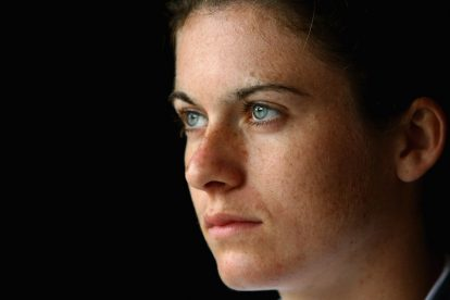 SHANGHAI, CHINA - SEPTEMBER 07:  Karen Carney of England poses at the team hotel prior to an England training session ahead of the FIFA 2007 World Cup in China at Shanghai Songjiang Stadium on September 7, 2007 in Shanghai, China.  (Photo by Paul Gilham/Getty Images)