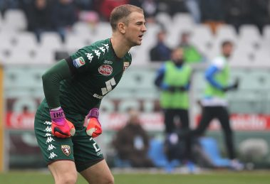 TURIN, ITALY - JANUARY 29:  Joe Hart of Torino FC ilooks on during the Serie A match betweenFC Torino and Atalanta BC at Stadio Olimpico di Torino on January 29, 2017 in Turin, Italy.  (Photo by Marco Luzzani/Getty Images)