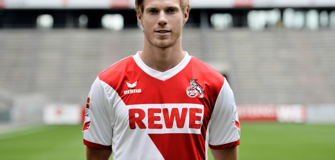 COLOGNE, GERMANY - JULY 21:  Tomas Kalas poses during 1. FC Koeln team presentation at RheinEnergieStadion on July 21, 2014 in Cologne, Germany.  (Photo by Sascha Steinbach/Bongarts/Getty Images)