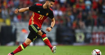 BRUSSELS, BELGIUM - JUNE 05:  Yannick Carrasco of Belgium in action during the International Friendly match between Belgium and Czech Republic at Stade Roi Baudouis on June 5, 2017 in Brussels, Belgium.  (Photo by Dean Mouhtaropoulos/Getty Images)