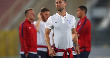 VALLETTA, MALTA - AUGUST 31:  Gary Cahill (C) and England team mates inspect the pitch on the eve of the World Cup qualifying match against Malta at Ta'Qali National Stadium on August 31, 2017 in Valletta, Malta.  (Photo by Julian Finney/Getty Images)