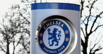 LONDON, ENGLAND - FEBRUARY 27:  A general view of the Chelsea Football Club badge at Stamford Bridge Stadium, venue for the Red Sox Master Class on February 27, 2014 in London, England. (Photo by Stephen Pond/Getty Images)