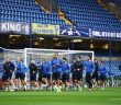 LONDON, ENGLAND - SEPTEMBER 11:  Players of Qarabag FK warm up during a Qarabag training session ahead of the UEFA Champions League Group C match against Chelsea at Stamford Bridge on September 11, 2017 in London, England.  (Photo by Dan Istitene/Getty Images)
