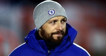ALDERSHOT, ENGLAND - JANUARY 17:  Jody Morris, manager of Chelsea looks on prior to the FA Youth Cup Fourth Round match between Chelsea and West Bromwich Albion at Aldershot Town Football Club on January 17, 2018 in Aldershot, England.  (Photo by Jordan Mansfield/Getty Images)