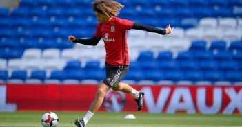 CARDIFF, WALES - SEPTEMBER 01:  Wales player Ethan Ampadu in action during Wales training ahead of their FIFA 2018 World Cup Qualifier against Austria at Cardiff City Stadium  on September 1, 2017 in Cardiff, Wales.  (Photo by Stu Forster/Getty Images)